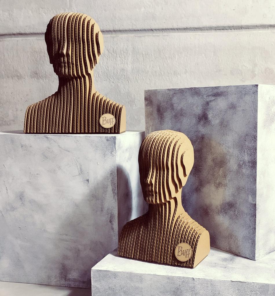cardboard head mannequin buff